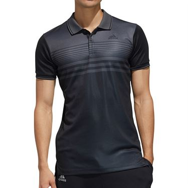 adidas Polo Mens Black/Grey Six FN1451