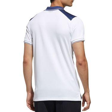 adidas Polo Mens White/Tech Indigo FN1452