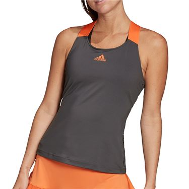adidas Primeblue Y Tank Womens Grey Six/True Orange FP7787