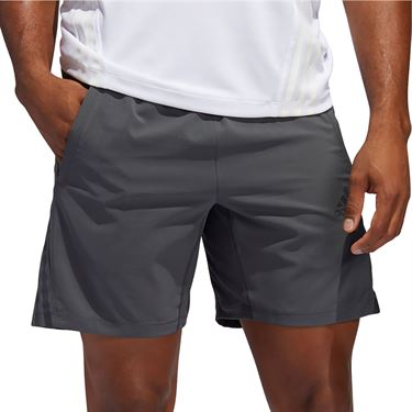 adidas Aero 3 Stripe Short Mens Grey Six FP7846