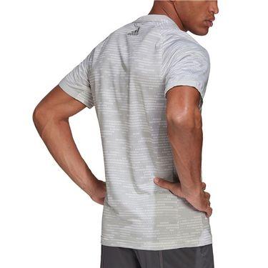 adidas Primeblue Logo Tee Shirt Mens Grey Two/Grey Four FP7958