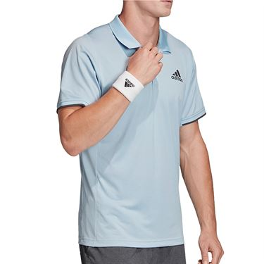 adidas Freelift Polo Shirt Mens Easy Blue FP7962