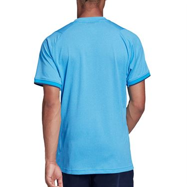 adidas Freelift Tee Shirt Mens Fresh Splash Heather FP7968