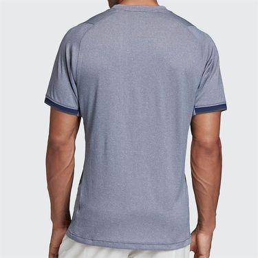 adidas Freelift Tee Shirt Mens Tech Indigo Mel FP7970