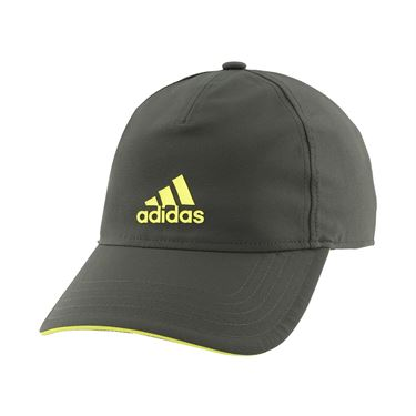 adidas Tennis 4AT Aeroready Hat - Legend Earth/Shock Yellow