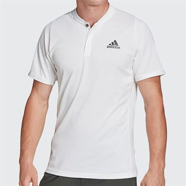 adidas Polo Mens White/Legend Earth FQ2434