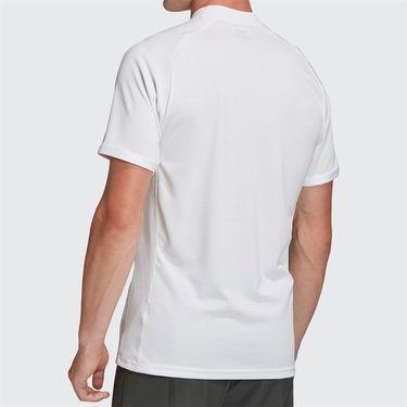 adidas Polo Mens White/Legend Earth FQ2434
