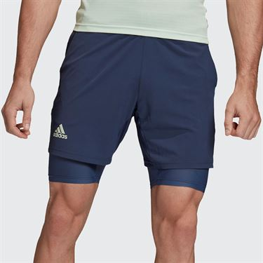 adidas 7 inch Short Mens Tech Indigo/Dash Green FQ5126