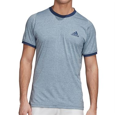 adidas Tennis Freelift T-Shirt Mens Tech Indigo/Sky Tint FR4346