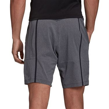 adidas Ergo Melange Tennis Shorts Mens Aeroready Black FR4348