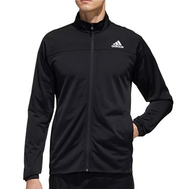 adidas 3-Stripe Knit Tennis Jacket Mens Black FS3771