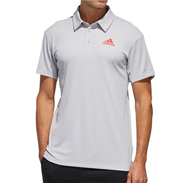 adidas Heather Tennis Polo Shirt Mens Heat.Rdy Grey FS3772