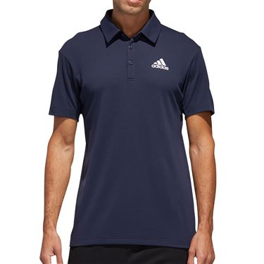 adidas Solid Tennis Polo Shirt Mens Heat.Rdy Navy FS3777
