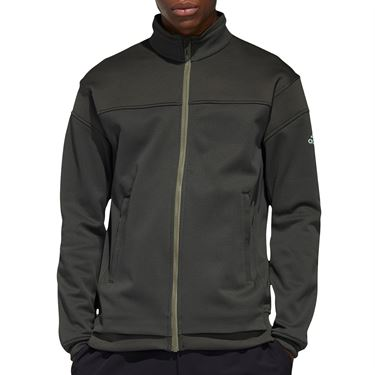adidas Knit Full Zip Jacket Mens Legend Earth FS3785