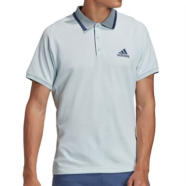 adidas Freelift Tennis Polo Shirt Mens Sky Tint/Tech Indigo FT6113