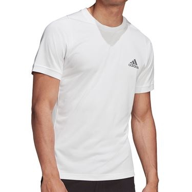 adidas Tennis Freelift T-Shirt Mens White/Grey FT6116