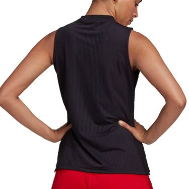 adidas Tennis Match Tank Womens Black/Grey FT6382