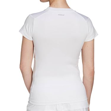 adidas Freelift Tennis T-Shirt Womens White/Grey FT6391