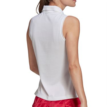 adidas Collared Tank Womens White FT6412