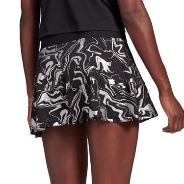 adidas Glam On Skirt Womens Black/Silver Metallic FT6420