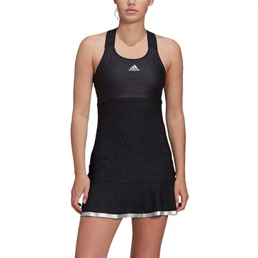 adidas Glam On Y Back Dress Womens Black/Silver Metallic FT6421