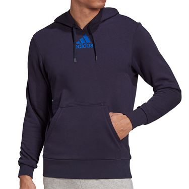 adidas Tennis Category Graphic Hoodie Mens Legend Ink/Royal Blue FU0071