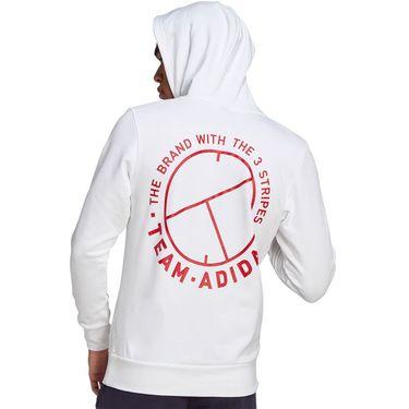 adidas Tennis Category Graphic Hoodie Mens White FU0072