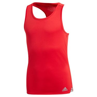adidas Girls Club Tank Top Scarlet FU0833