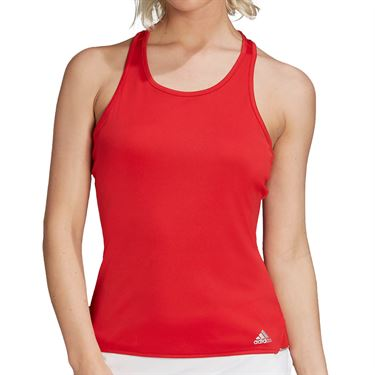 adidas Club Tennis Tank Top Womens Scarlet/Grey FU0883