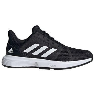 adidas CourtJam Bounce Mens Tennis Shoe Core Black/White FU8103