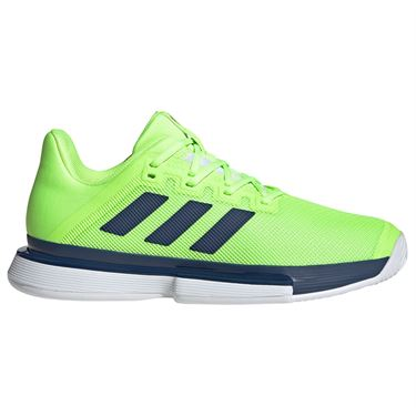 adidas Solematch Bounce Hard Court Shoes Signal Green
