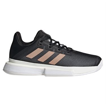 adidas SoleMatch Bounce Womens Tennis Shoe Core Black/Copper Metallic/White FU8125
