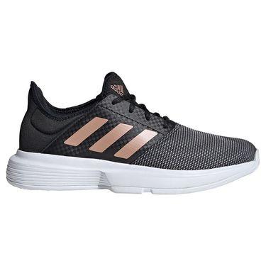 adidas GameCourt Womens Tennis Shoe Core Black/Copper Metallic/White FU8129