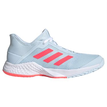 adidas Adizero Club Womens Tennis Shoes Sky Tint/Signal Pink/White