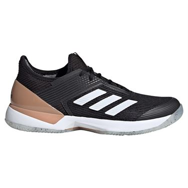adidas Adizero Ubersonic 3 Womens Tennis Shoe Core Black/White/Copper Metallic FU8153