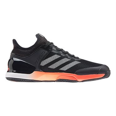 adidas Adizero Ubersonic 2 Clay Mens Tennis Shoe Core Black/True Orange/White FV1458