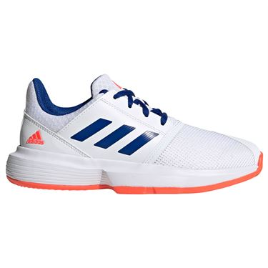 adidas CourtJam Junior Tennis Shoes White/Collegiate Royal/Solar Red FV4123