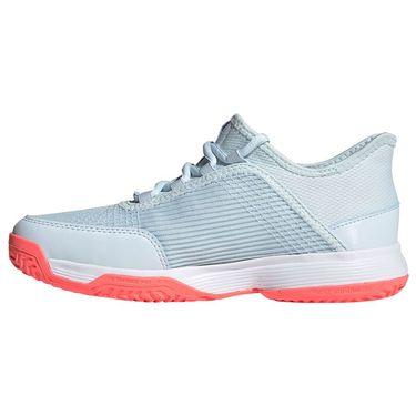 adidas Adizero Club Junior Tennis Shoes Sky Tint/Signal Pink/White FV4133