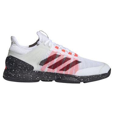 adidas Adizero Ubersonic Mens Tennis Shoe White/Core Black/Signal Pink FW0067