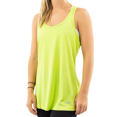 Fila W&S Embellished Move It Loose Tank Womens Lime Punch Heather/Distressed Teal FW151JR9 377