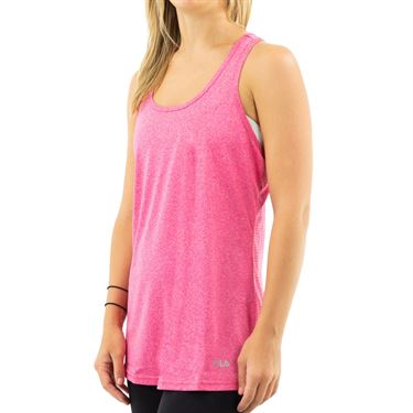 Fila Move It Loose Tank - Fuchsia Heather/Distressed Ivory