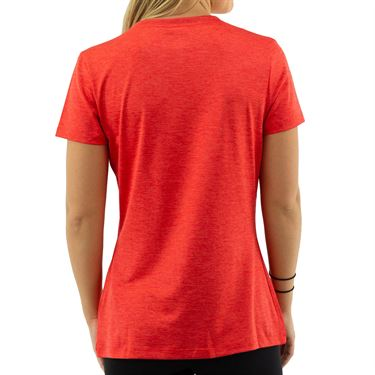 Fila Silky V Neck Tee - Chinese Red