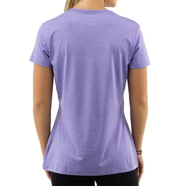 Fila Silky V Neck Tee - Blazing Heather