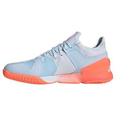 adidas Adizero Ubersonic 2 Mens Tennis Shoe Sky Tint/Signal Coral/White FW3533
