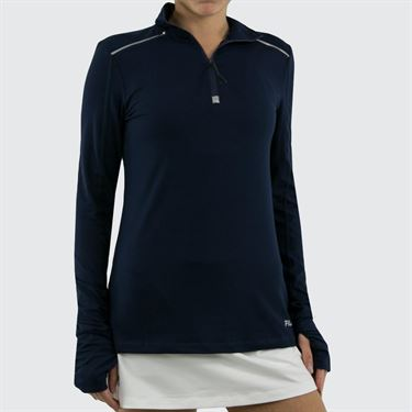 Fila Half Zip Jacket Womens Navy FW811752 412