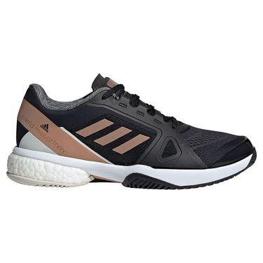 adidas Stella McCartney Womens Tennis Shoe Core Black/Copper Metallic/Orbit Grey FW9883
