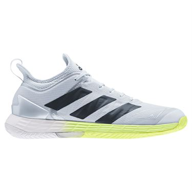adidas Adizero Ubersonic 4 Mens Tennis Shoe White/Core Black/Halo Blue FX1364