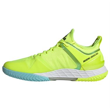 adidas Adizero Ubersonic 4 Mens Tennis Shoe Solar Yellow /Core Black/Hazy Sky FX1365