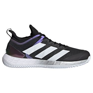 adidas Adizero Ubersonic 4 Clay Mens Tennis Shoe Core Black/White/Silver FX1372