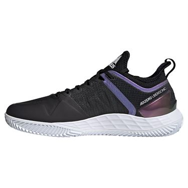 adidas Adizero Ubersonic 4 Clay Mens Tennis Shoe Core Black/White/Silver FX1372